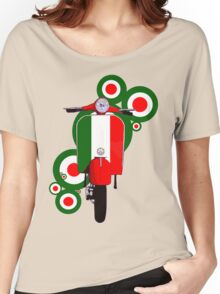 Italian decal scooter on roundals Women's Relaxed Fit T-Shirt