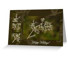 Crystal Elegance - Happy Holidays! Greeting Card