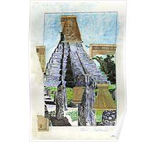 Pyramid in Tikal Guatemala Poster