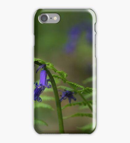 Bluebells, ferns and ladybird iPhone Case/Skin