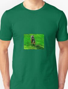 Dog running Unisex T-Shirt