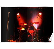 Drummer in red Poster