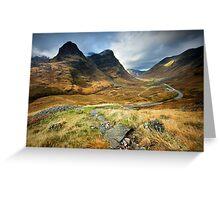 Scotland : Shadow of Glencoe Greeting Card