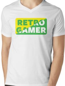 Retro Gamer Mens V-Neck T-Shirt