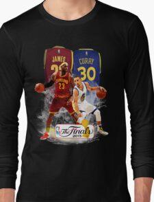 Lebron James vs Stephen Curry Long Sleeve T-Shirt