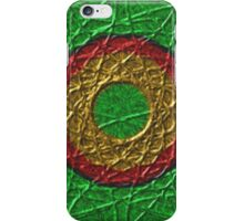 Circle pattern on green background iPhone Case/Skin
