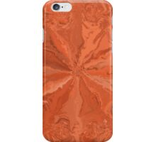 Abstract orange modern pattern iPhone Case/Skin