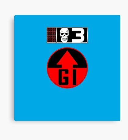 Bagman BioChip and GI Badge Canvas Print