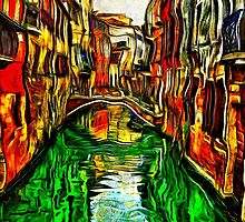 Canals Of Venice Fine Art Print by stockfineart