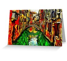 Canals Of Venice Fine Art Print Greeting Card