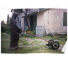 Our lady of the lawn mower Poster