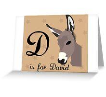 D abc Greeting Card