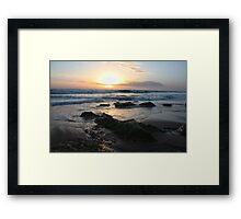 St Andrews Beach - Sunset Framed Print