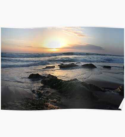 St Andrews Beach - Sunset Poster