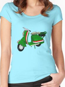 Fifties Lambretta Green decal Women's Fitted Scoop T-Shirt