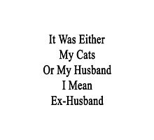 It Was Either My Cats Or My Husband I Mean Ex-Husband  by supernova23