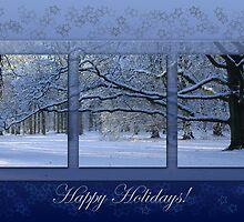 Reaching far - holidays greeting card by steppeland