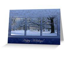 Reaching far - holidays greeting card Greeting Card