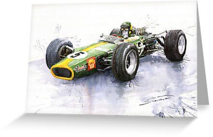 Lotus 49 Ford F1 Jim Clark by Yuriy Shevchuk