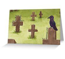 The Crow (1) Greeting Card