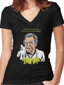 """Walter Bishop - """"I Want to see..."""" Fringe- Women's Fitted V-Neck T-Shirt"""
