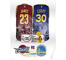 Lebron James vs Stephen Curry Jersey Poster