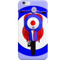 Retro Scooter with Target iPhone Case/Skin