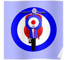 Retro Scooter with Target Poster