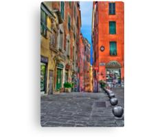 Vicoli di Genova Canvas Print