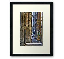 alley of genoa Framed Print