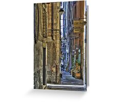 alley of genoa Greeting Card