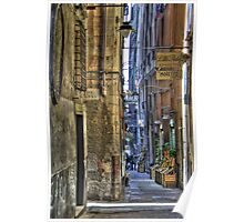 alley of genoa Poster