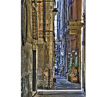 alley of genoa Photographic Print