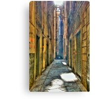 Alley of genoa Canvas Print