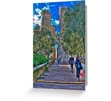 Genoa center,Porta Soprana Greeting Card