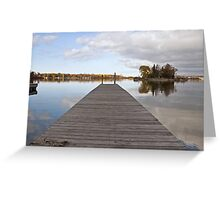 A Dock on Green Bay Greeting Card