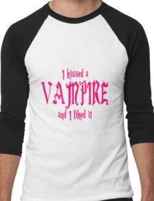 I Kissed A Vampire And I Liked It Men's Baseball ¾ T-Shirt
