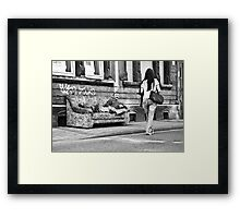 A little break (Saarbruecken, Germany) Framed Print