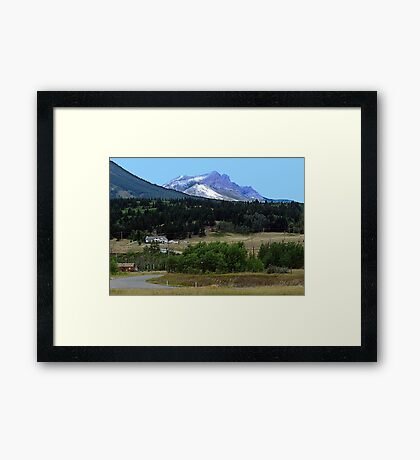 Crowsnest Pass and Mountain Framed Print