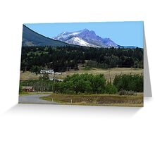 Crowsnest Pass and Mountain Greeting Card