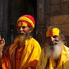 Happy Saddhus at Bhaktapur, Nepal by jacqi