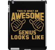 This is What an AWESOME GENIUS Looks Like Retro iPad Case/Skin