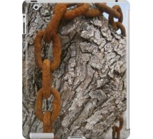 Rusty chain and a olive tree iPad Case/Skin