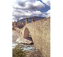 Hunchback Bridge - Bobbio - Italy Photographic Print