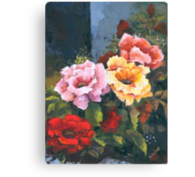 Roses - Just Stop and Smell their Perfume... Canvas Print