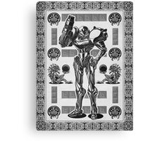 Metroid Samus Aran Geek Line Artly Canvas Print