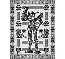 Metroid Samus Aran Geek Line Artly Photographic Print