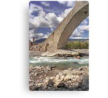 Bobbio - Old Bridge Canvas Print