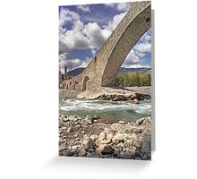 Bobbio - Old Bridge Greeting Card
