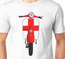 Classic Scooter with St George Cross Art Unisex T-Shirt